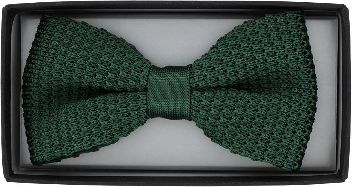 Green Michelsons of London Mens Silk Knitted Bow Tie