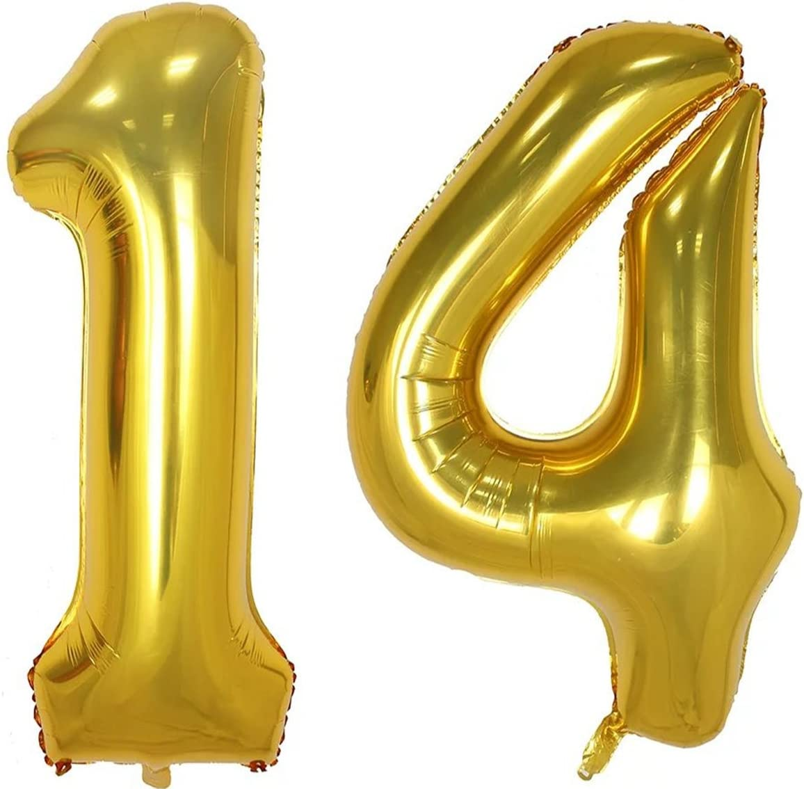Juland Rose Gold Number Balloons XXL Giant Foil Birthday Balloon Large Foil Mylar Balloons 40 Inch Giant Jumbo Number Balloons for Birthday Party Decorations 15