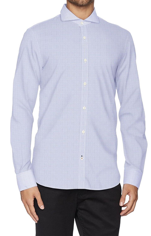 El Ganso 1050W170027 Camisa Casual, Blanco Celeste, 41 para Hombre ...