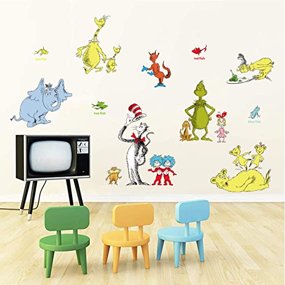 Animal Alphabet ABC Educational Wall Stickers For Bedrooms Kids Toddler Decal UK