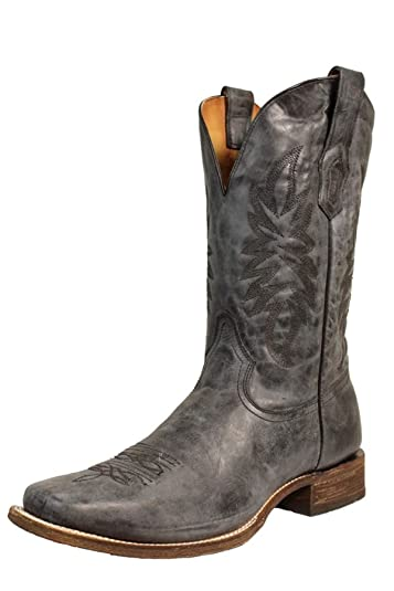 6961676e832d CORRAL A3255 Men s Vintage Black and Gray Embroidered Square Toe Boots ...