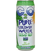 C2O Pure Coconut Water with Pulp, 16.3 Fluid Ounce (Pack of 8)