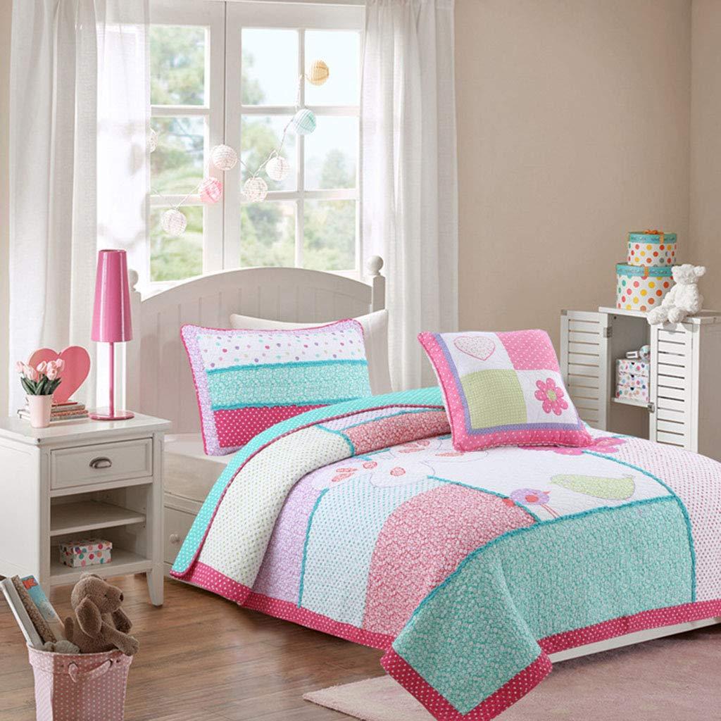 掛け布団ベッドカバーコットンキングサイズ3ピースコットンパッチワークキルトこたつ寝具セット   B07HQFV1KW