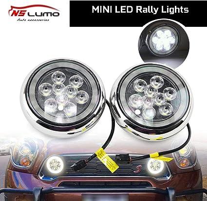 Luz LED Halo DRL Rally – Luz LED cromada de conducción de rally ...