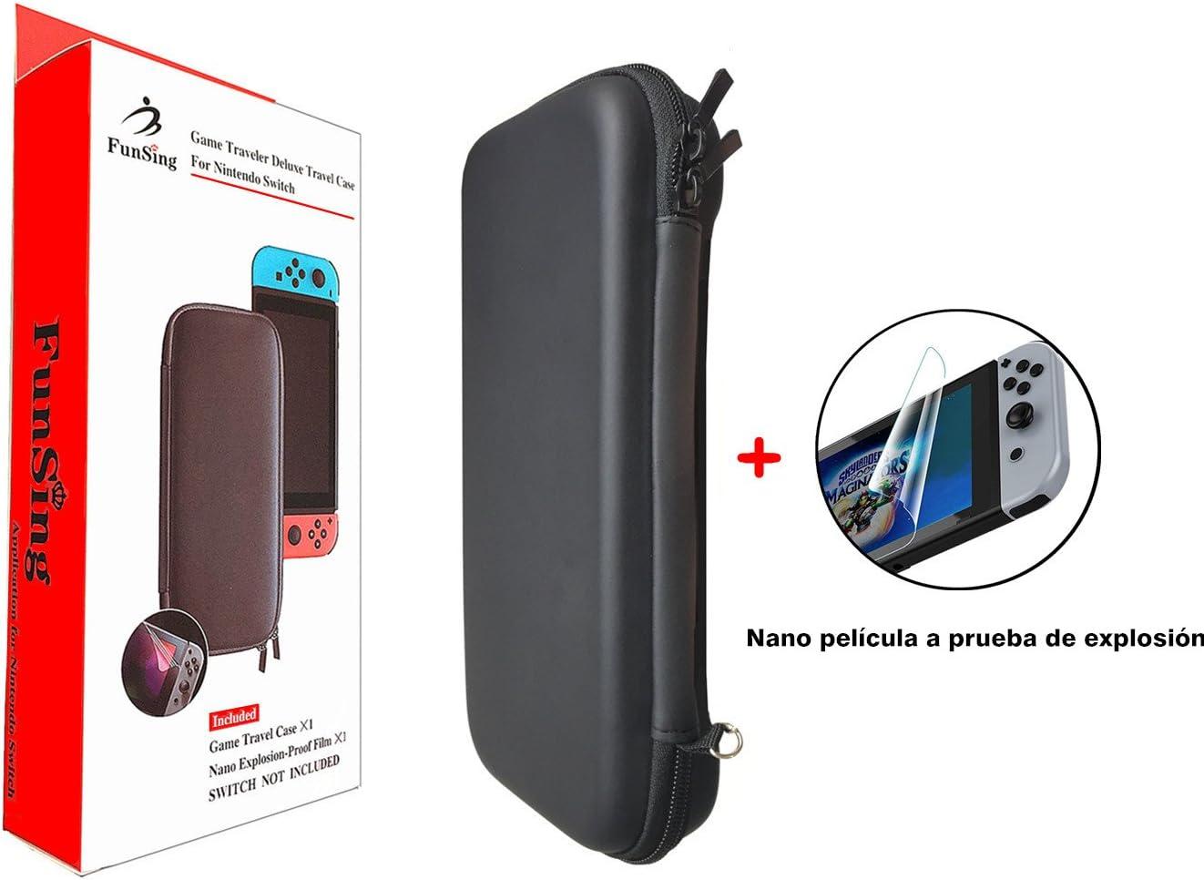 FS Elec. Funsing Estuche Nintendo Switch Funda de Viaje con 8 Ranuras para Guardar las Tarjetas de Juego, y con 1 Protector de Pantalla incluido para Nintendo Switch: Amazon.es: Videojuegos