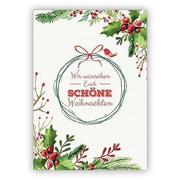 Gemalte Weihnachtskarten.Unternehmen Weihnachtskarten Set 16stk Edle Gemalte
