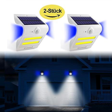 Solar Leuchten Outdoor Sensor de movimiento super Bright Solar apliques 32 LED Iluminación + 3 Backlight