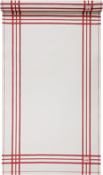 MYdrap Cocina Trapo diseño Rollo de algodón, 100% algodón, Rojo ...