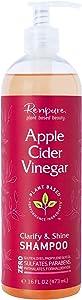 RENPURE Plant Based Beauty, Apple Cider Vinegar Shampoo, 16 Ounce