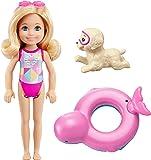 Barbie Aventura de los Delfines, muñeca Chelsea con perrito (Mattel FCJ28)