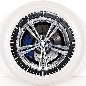 Reloj de pared Nuevo BMW ruedas 25,4 cm se color y para pared W245: Amazon.es: Hogar