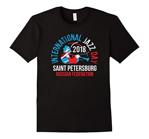 Mens International Jazz Day St Petersburg, Russia T-shirt 2XL Black