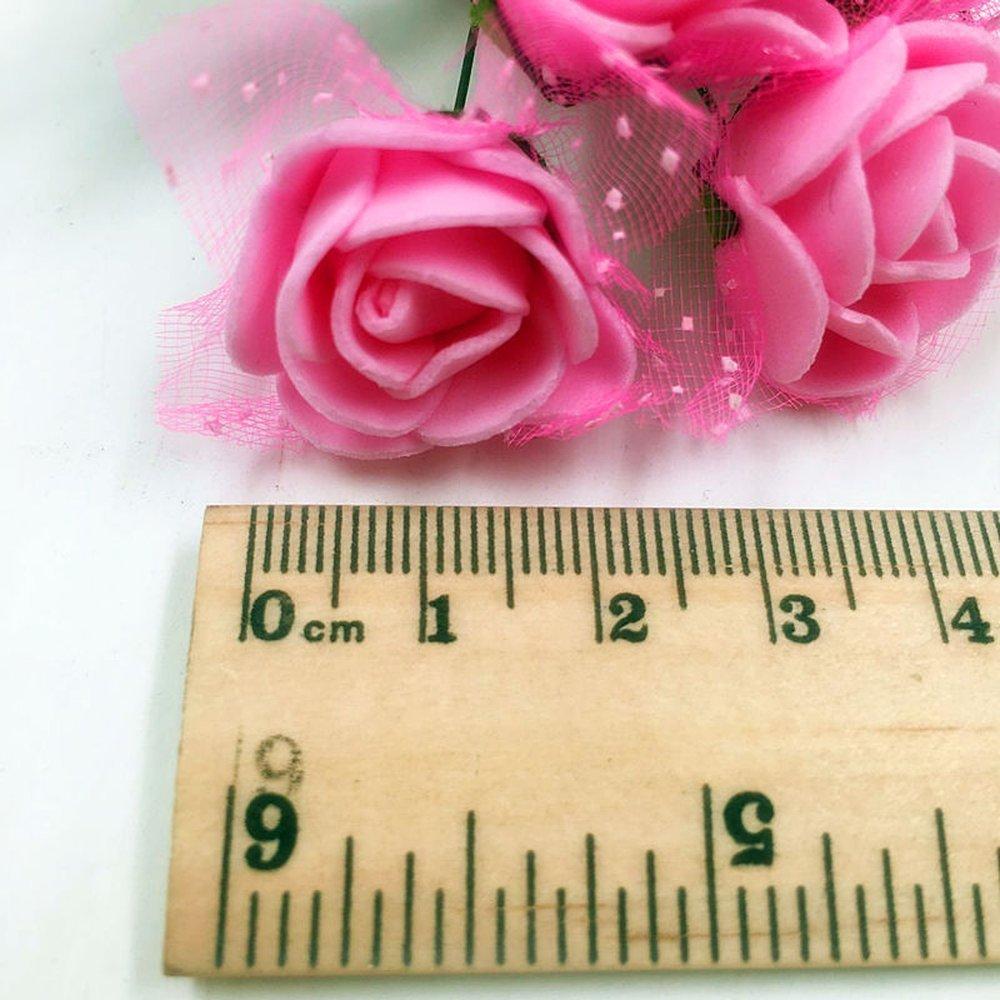Amazon.com: Artificial Flower fake flowers Multicolor Rose Wedding ...
