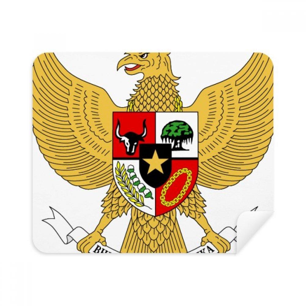 インドネシアNational Emblem国電話画面クリーナーメガネクリーニングクロス2pcsスエードファブリック   B07C92M8DG