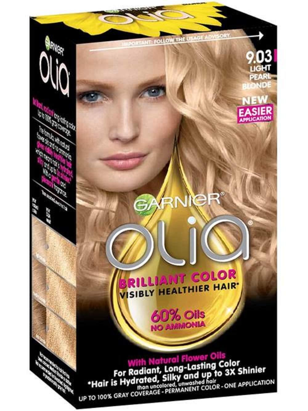Garnier Olia Hair Color 903 Light Pearl Blonde Ammonia Free
