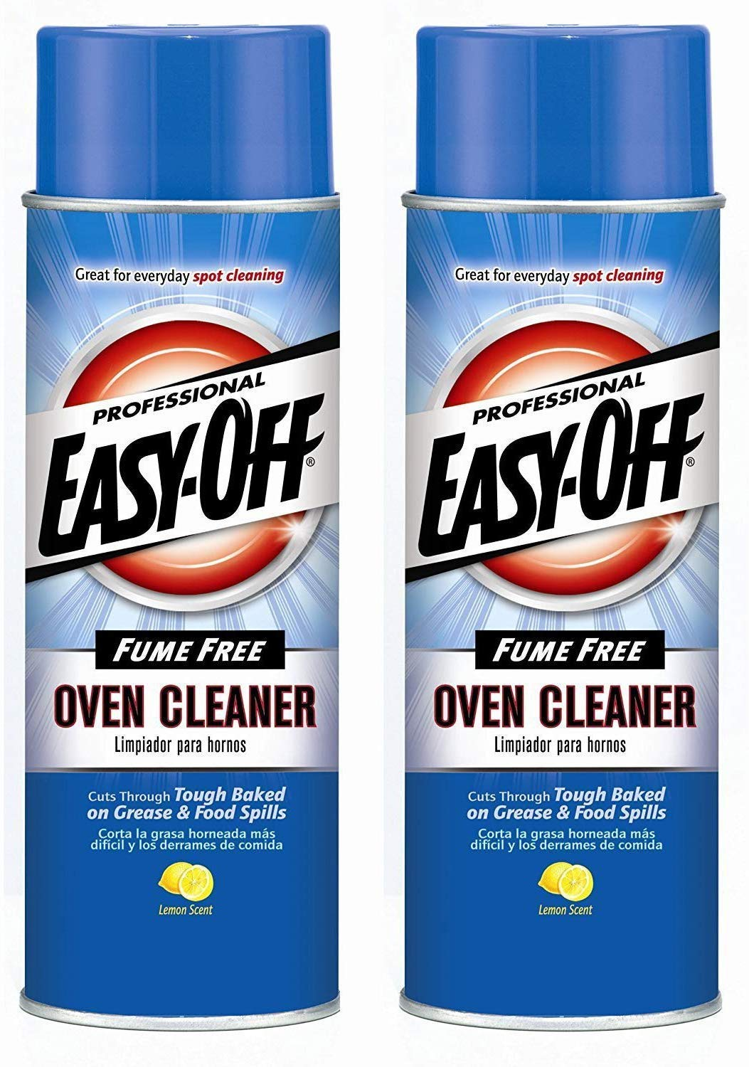 Professional Fume Free Max Oven Cleaner, Lemon 24 Ounce (2 Pack) by Easy Off