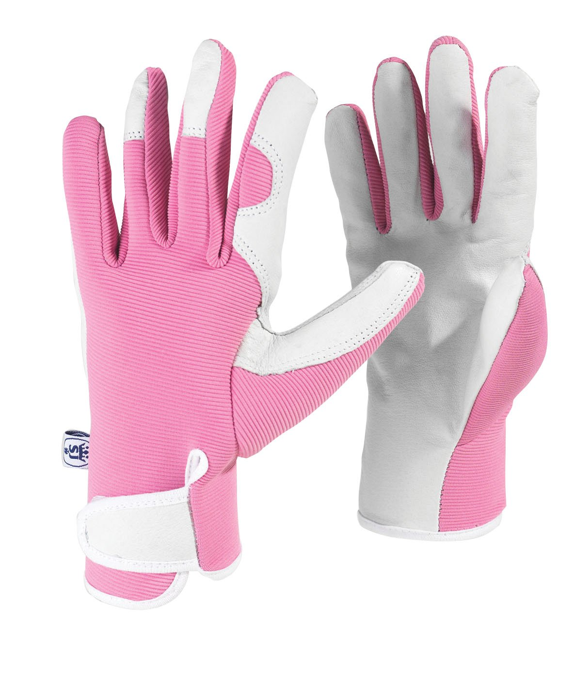 Spear & Jackson Kew Gardens Collection Ladies Small Leather Palm Gardening Gloves - Pink LSGLOVESKEW