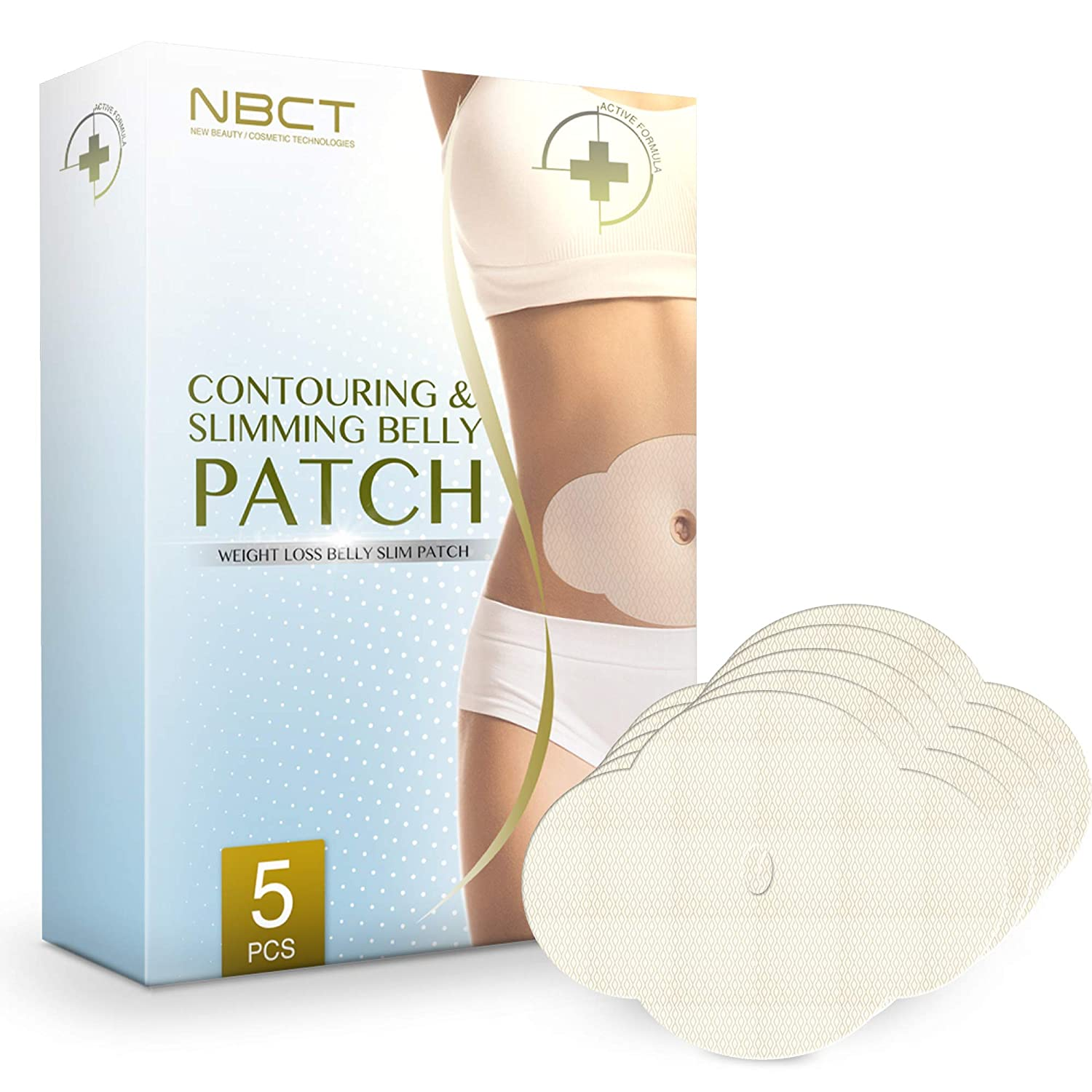 NBCT Belly Contouring Patch, Ultimate Body Wrap Lipo Applicator, All Natural, Works for Inch Loss Firming Contouring Shaping - 5 Body Wraps