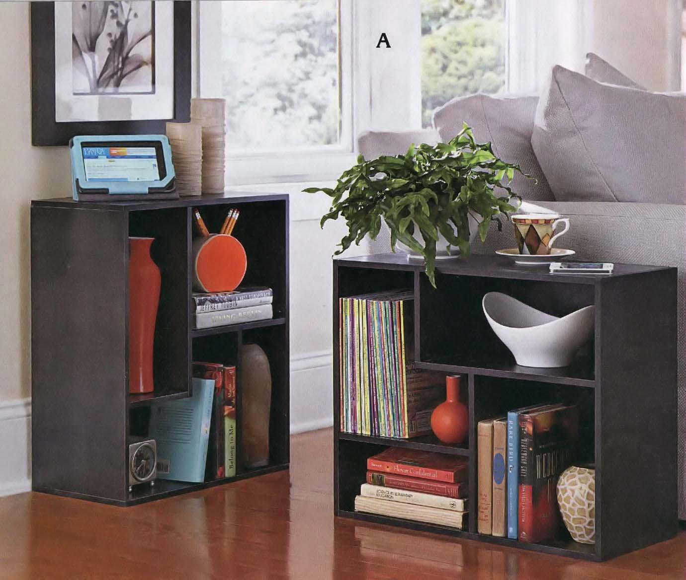 END TABLE BOOKCASE Versatile Multi-Compartment