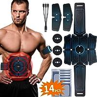 RIRGI Koiteck Electroestimulador Muscular Abdominales,Electroestimulador Muscular USB Recargable, 6 Modos y 10 Niveles…