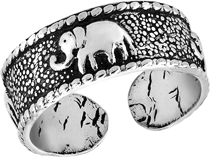 Sterling Silver Elephant Pinky Ring