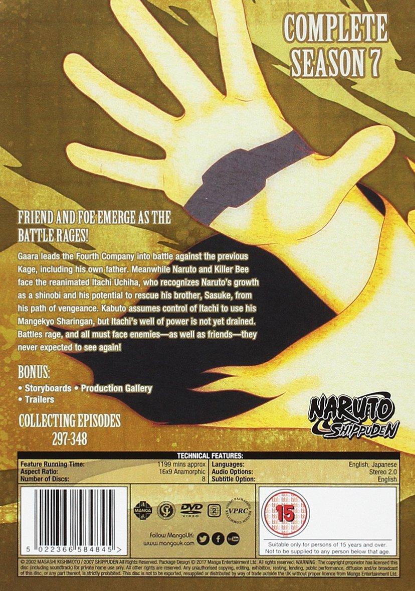 Naruto Shippuden Complete Series 7 Box Set Episodes 297-348 ...