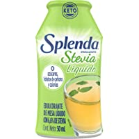 SPLENDA STEVIA LIQUIDO, Endulzante en gotas Cero Calorias Sweetener Drops, Botella de 50mL