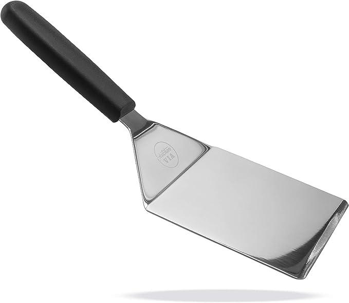 3 Small Medium Large Metal Bevel Edge for Cutting Pancake Burger Flip Spatulas