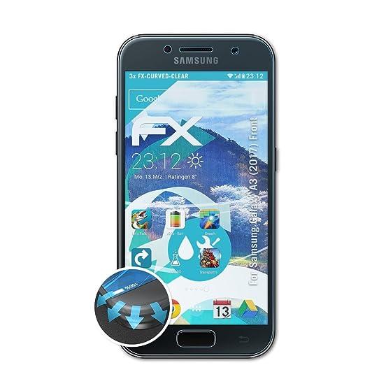 123 opinioni per Samsung Galaxy A3 (2017) Front Pellicola Proteggi- 3 x atFoliX FX-Curved-Clear