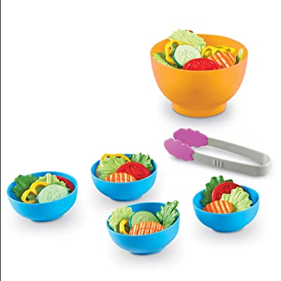 Learning Resources Garden Fresh Salad Set, Vegetables, Play Food, 38 Piece Set, Ages 2+: Toys & Games