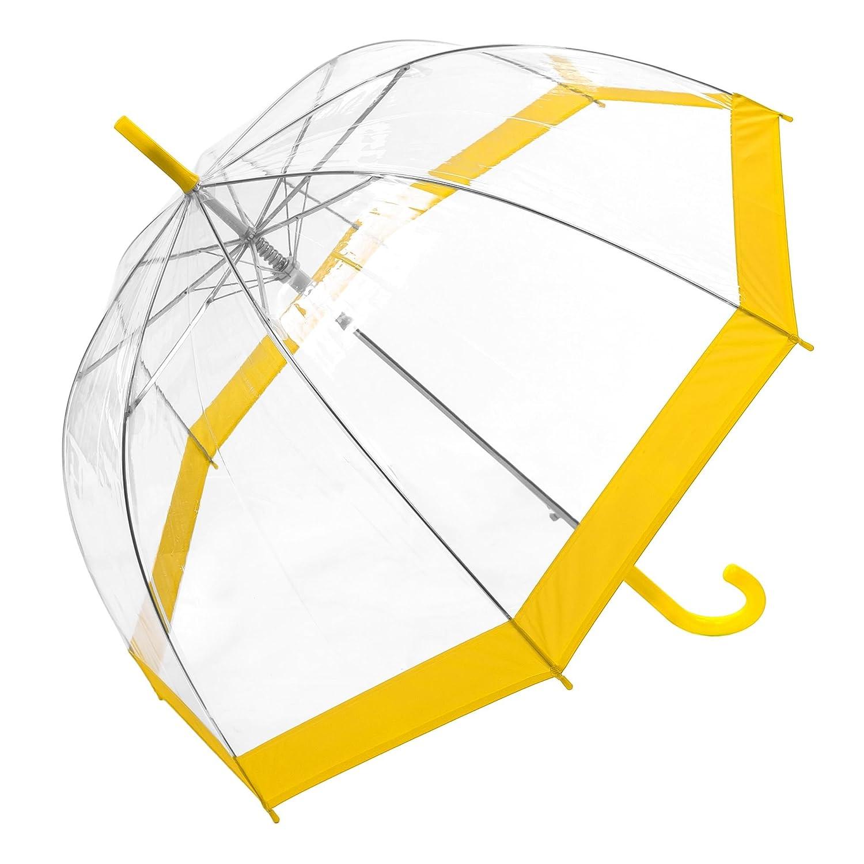 85 L Susino Parapluie Canne Droit Ouverture Automatique Jaune 88 cm