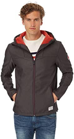 5a96cd0d5bdc63 Tom Tailor Denim Men's Soft Shell Jacket Long Sleeve Jacket - Black - Medium