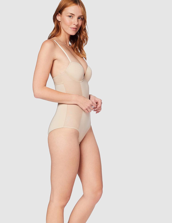 Iris /& Lilly Bodysuit Shaping con Reggiseno Push Up con Ferretto Donna