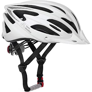 cheap TeamObsidian Airflow Bike Helmet   White/Medium - Large   - for Adult Men & Women and Youth/Teenagers - CPSC Certified Bicycle Helmets for Road 2020
