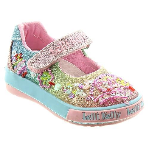 fdb2e5bd96 Lelli Kelly Kids LK5018 Tillie Bar Shoes In Multi, Multicoloured, 3 UK Baby