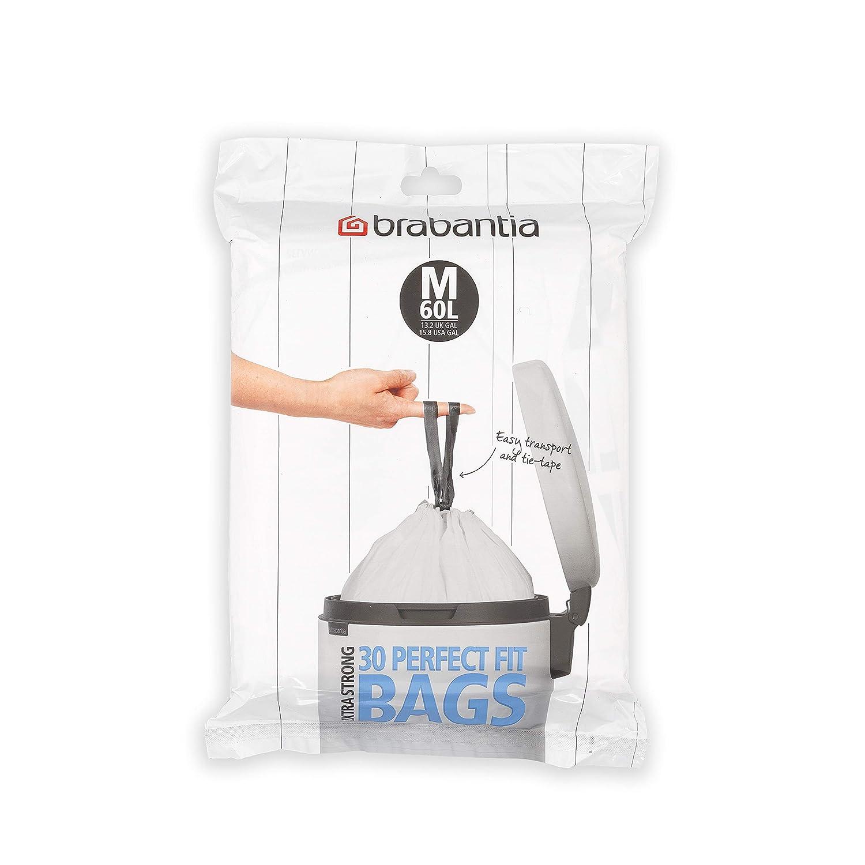 Brabantia C/ódigo O Dispensador de Bolsas de Basura 30 litros Blanco