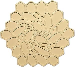 modern-twist Hive Silicone Trivet, Potholder, Single, Honey