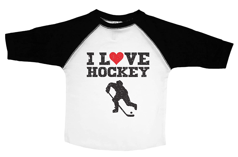 b8f8d2428 Amazon.com: Hockey Shirt for Kids / I LOVE HOCKEY / Unisex Toddler / Cute Kids  Shirt / Baffle: Clothing