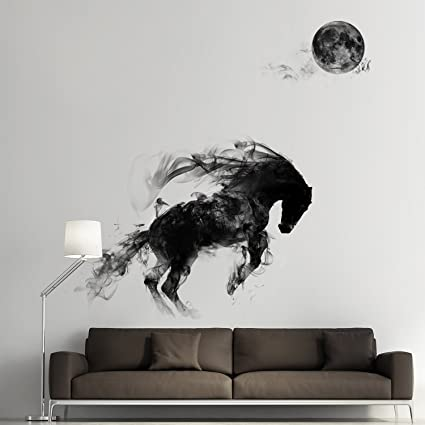 39a42067d26 Image Unavailable. Image not available for. Color  OLSR Horse Wall Stickers  Kids Room Bedroom Decor Waterproof Living Room Bedroom Art Mural Decal  Sticker