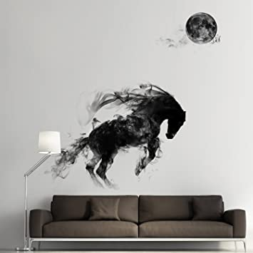 OLSR® Adesivi murali per cavalli Decorazioni per camere da letto per ...