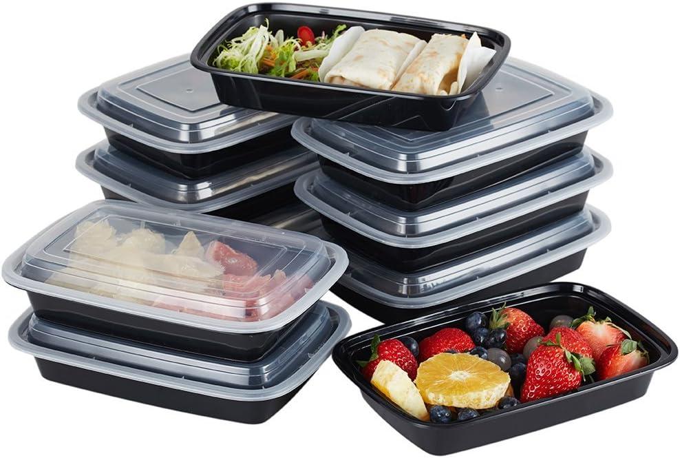 Contenedores de plástico para comida aptos para microondas y ...