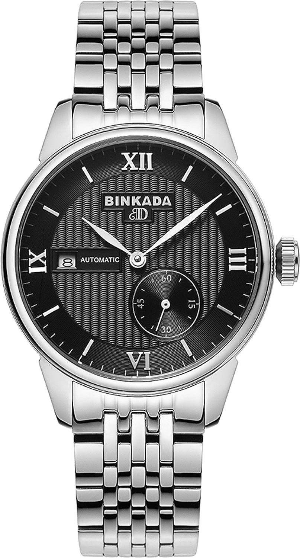 BINKADAファンキー3ポインタself-motionブラックダイヤルメンズ腕時計# 7007b01 – 2 B00Y5IV5N4
