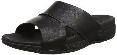 Surfer (Leather), Sandales Bout Ouvert Homme, Noir (Black), 42 EUFitFlop