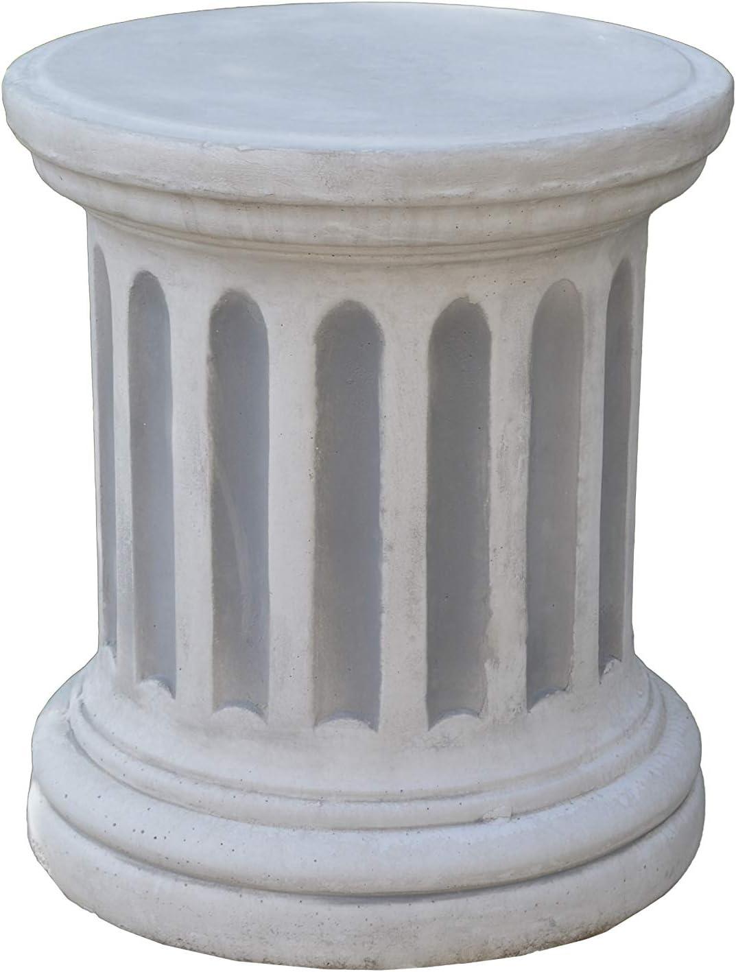 Gartendekoparadies.de Jolie colonne ronde en pierre r/ésistante au gel