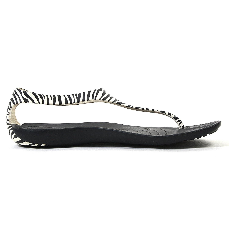 fc5461e5aa0bfc Crocs Sexi Wild Flip Womens Zebra Black White (8)  Amazon.co.uk  Shoes    Bags