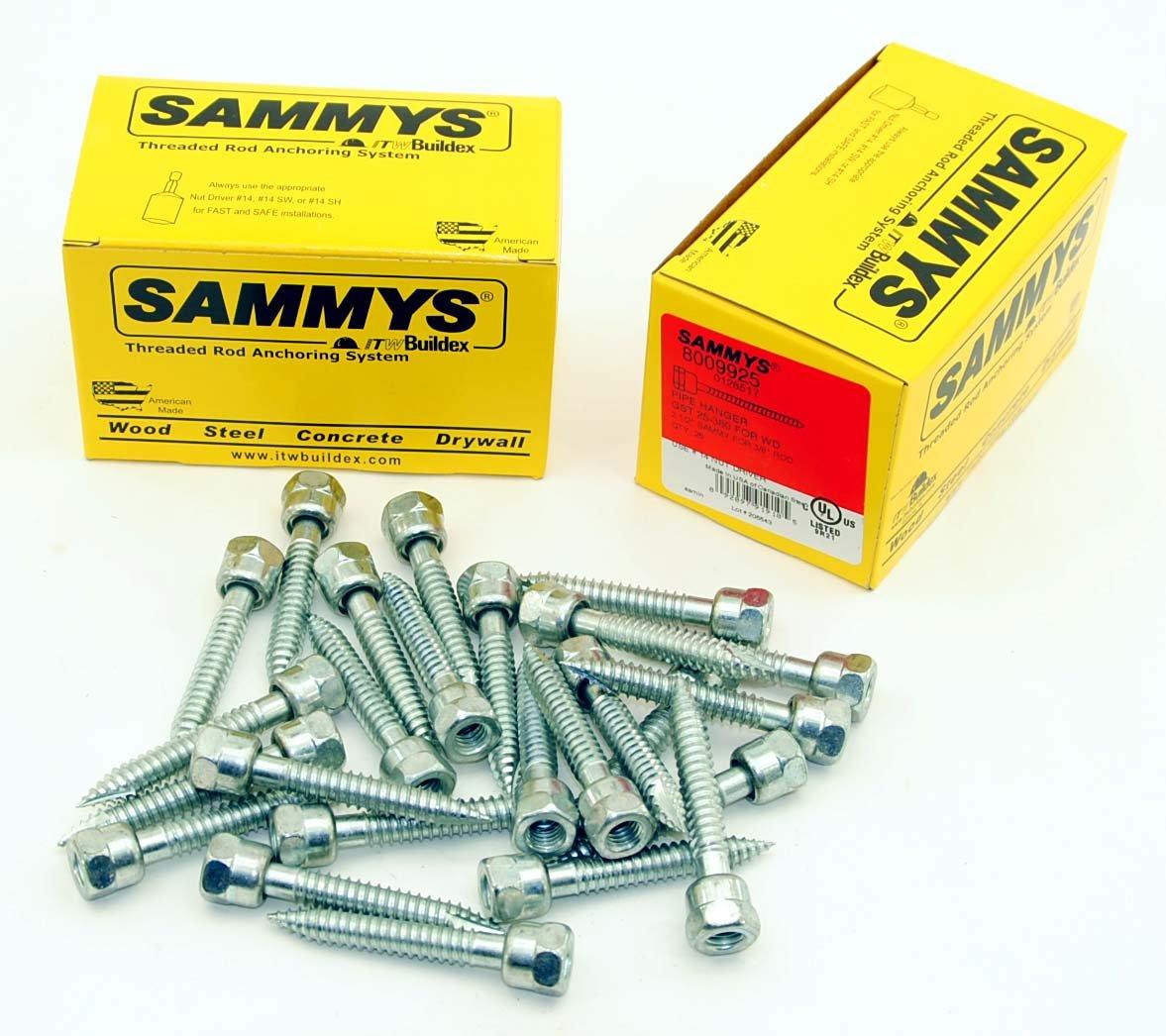 Sammys 3//8-16 x 2-1//2 Threaded Rod Hanger for Wood 8009925 25