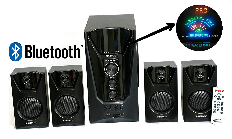 Universal HT - 4113BT, Bright LED Spectrum Display 4.1 Multimedia ...