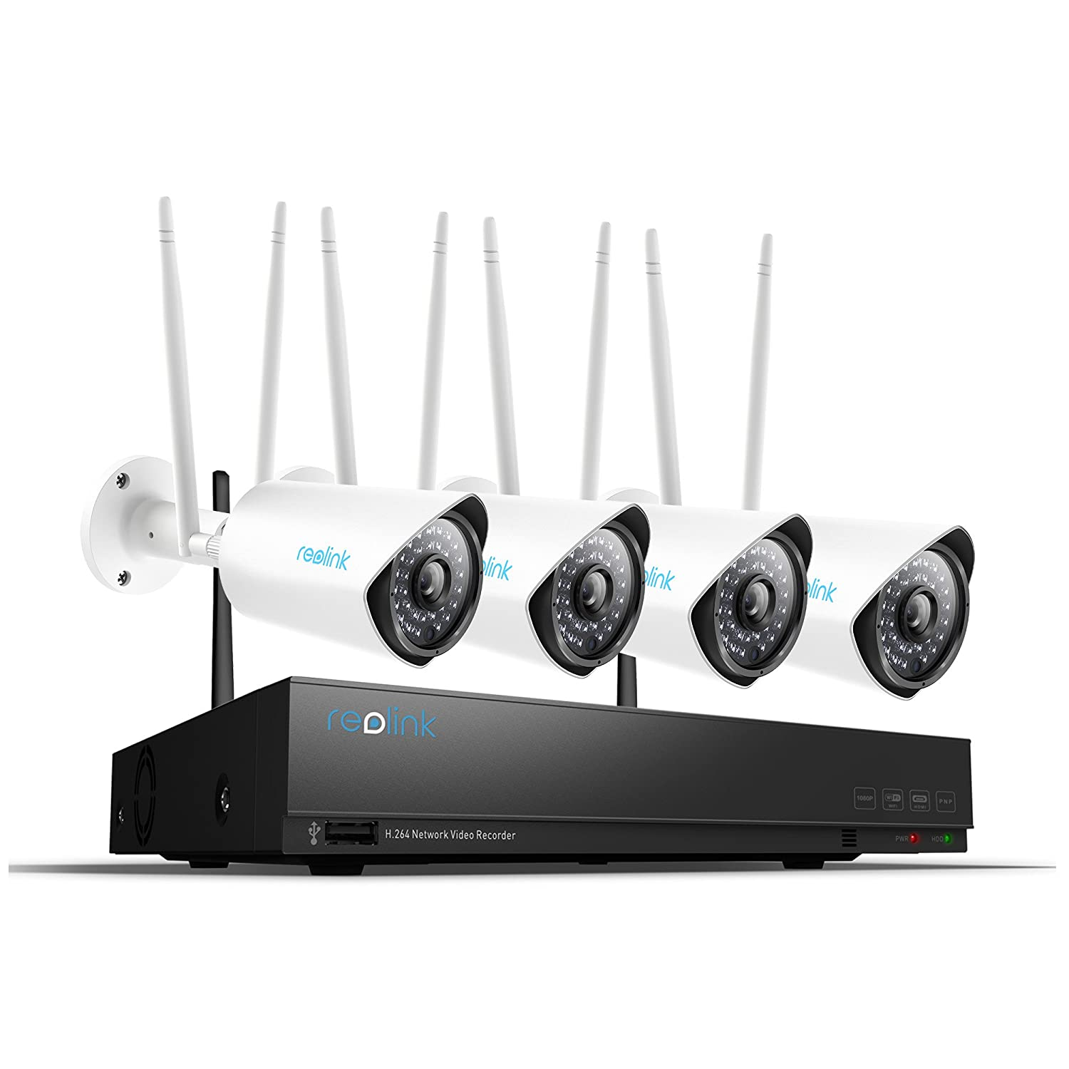 Reolink 1080p Wireless Security Camera System Outdoor HD 4 ...