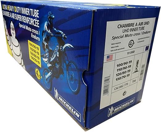 Michelin Moto Fahrradschlauch 19 Uhd Tr4 100 90 19 110 90 19 120 80 19 130 70 19 Auto