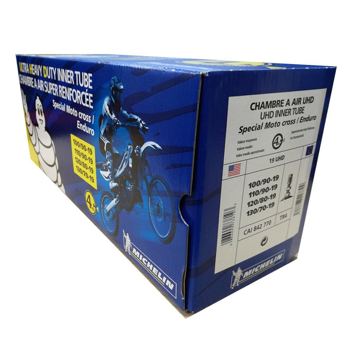 Michelin moto fahrradschlauch 19 UHD TR4 100//90-19, 110//90-19, 120//80-19, 130//70-19